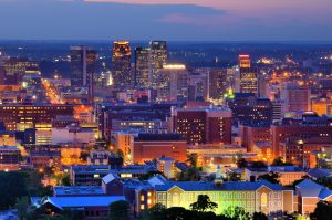 Birmingham Alabama at night