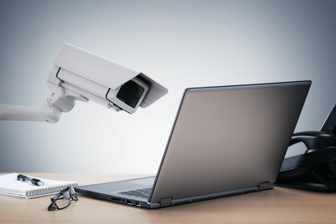 privacy issues - camera spying on a laptop
