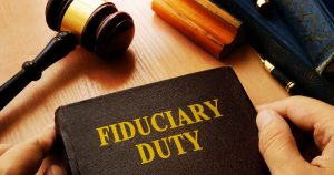 fiduciary duty - book, gavel