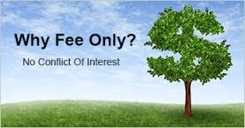 "Picture of a tree and sky with the words ""Why Choose a Fee-Only Investment Advisor? No Conflict of Interest."""